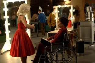 FEUD -- Pictured: (right) Jessica Lange as Joan Crawford. CR: Suzanne Tenner/FX